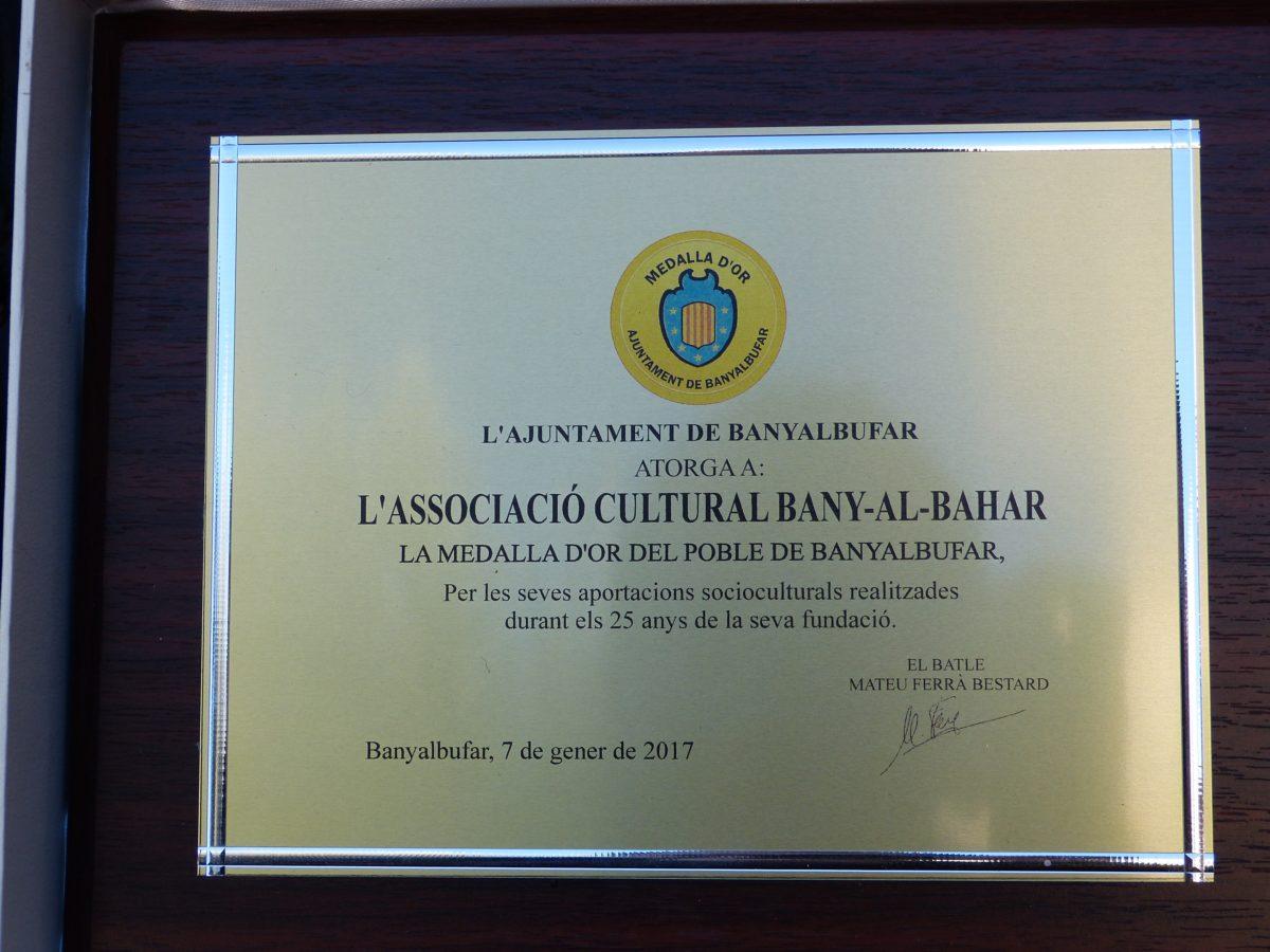 Medalla d'or de Banyalbufar